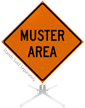 Muster Area Roll-Up Sign