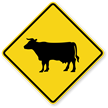 Cattle Symbol - Traffic Sign