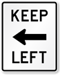 Keep Left MUTCD Sign Symbol