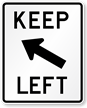 Keep Left (Symbol) Road Traffic Sign