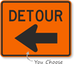MUTCD Compliant Detour Sign with Arrow