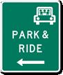 Park & Ride Left Arrow - Traffic Sign