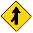 Left Lane Merge (Symbol) - Traffic Sign