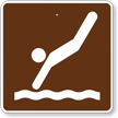 Diving, MUTCD Guide Sign for Campground