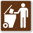 Trash Dumpster, MUTCD Guide Sign for Campground