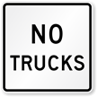 No Trucks Road Traffic Sign