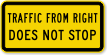 MUTCD Traffic From Right Does Not Stop Sign
