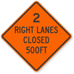 Two Right Lanes Closed
