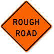 Rough Road - Road Warning Sign