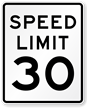 Speed Limit 30 For Road Traffic Sign