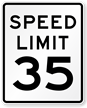 35 Speed Limit Sign