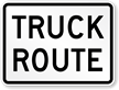 Truck Route Weight Limit Sign