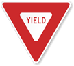 Red Yield Traffic Sign