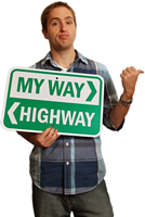 My Way Highway Signs