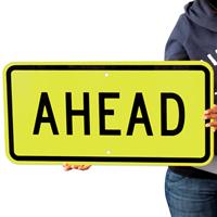 Ahead Fluorescent Diamond Grade School Signs