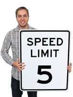 Speed Limit 5 Mph Safety Sign