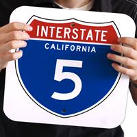 California Interstate 5 Signs