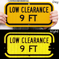 Low Clearance 9 Ft. Signs