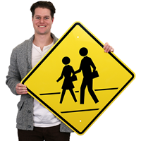 Pedestrian Crossing Symbol Signs