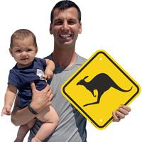 Joey kangaroo sign