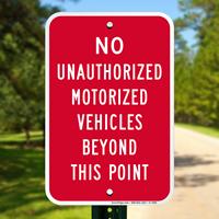 No motorized vehicles