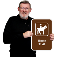 Horse Trail Campground Sign