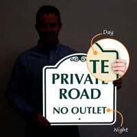PRIVATE ROAD NO OUTLET Signs
