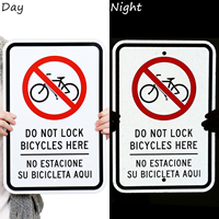Bilingual Do Not Lock Bicycles To Chains Signs