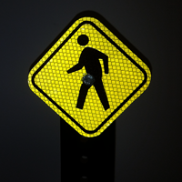 Mini Pedestrian Crossing Symbol
