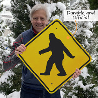 Official sasquatch crossing sign