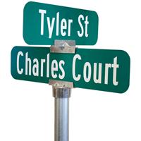 Round Post Street Sign Brackets