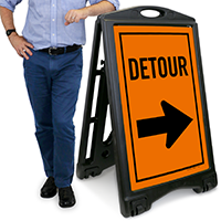 Detour A-Frame Portable Sidewalk Sign