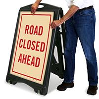 Road Closed A-Frame Portable Sidewalk Sign