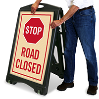 Stop A-Frame Portable Sidewalk Sign
