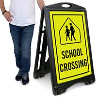 School Crossing A-Frame Portable Sidewalk Sign