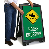 Horse Crossing Portable Sidewalk Sign