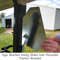 Attachment Hardware for Slow Moving Vehicle Sign