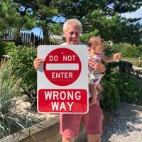 Do not enter wrong way sign