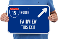 Your Hometown This Exit Custom City Signs