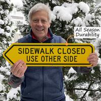 Sidewalk closed sign