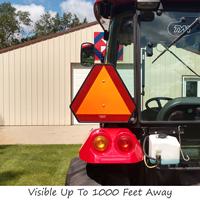 Reflective Slow Moving Vehicle Sign