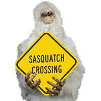 Sasquatch Crossing Signs