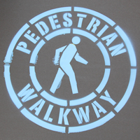 Pedestrian Walkway Traffic Stencil (with Graphic)