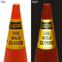 Side Walk Closed Cone Collar Sign