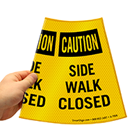 Caution Side Walk Closed sign