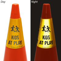 Kids At Play Cone Message Collar Sign