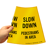 Pedestrians In Area Sign