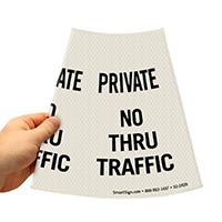 No Thru Traffic Road Traffic Sign