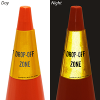 Drop Off Zone Cone Message Collar Sign
