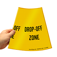 Drop Off Zone Road Traffic Sign